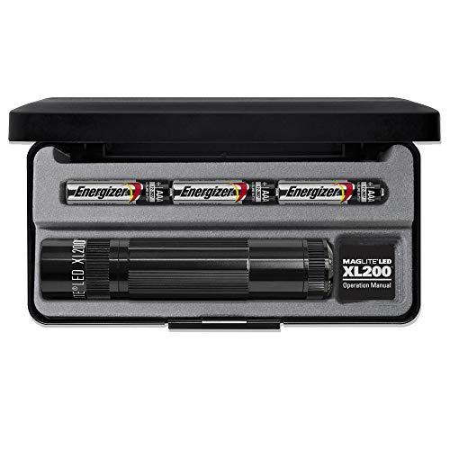 Mag-Lite LED Taschenlampe XL200, 172 Lumen, schwarz, 12 cm mit 5 Modi und Endkappenschalter, XL200-S3017