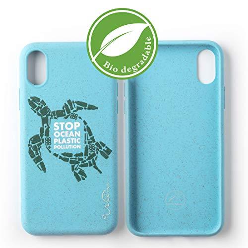 Wilma Umweltfreundliches, biologisch abbaubare Handy Schutzhülle Kompatibel mit iPhone X/XS, Stop Meeres Plastik Verschmutzung, Kunststoff-frei, abfallfrei, ungiftig, Vollschutz Hülle - Schildkröte