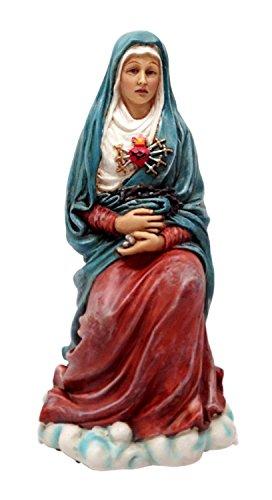 Pacific Trading Estatua de Nuestra señora de Siete Dolores Mater Dolorosa Bendecido Virgen Mary Pintada a Mano
