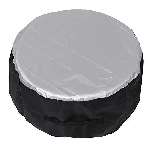 Bolsas de almacenamiento de la cubierta de neumáticos de repuesto del automóvil Lleve Tote Polyester Tire para los automóviles Cubiertas de protección contra ruedas Caja de la cubierta de los neumátic