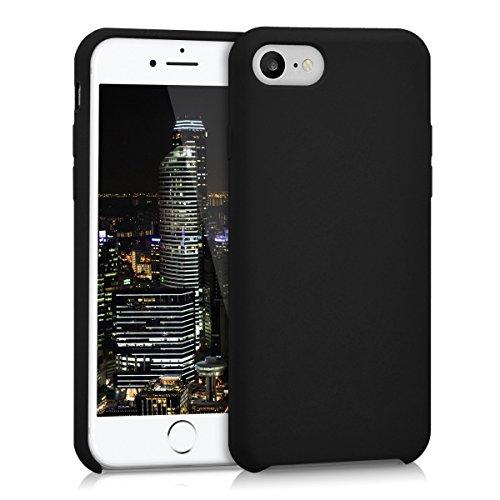 kwmobile Coque Compatible avec Apple iPhone 7/8 / SE (2020) - Housse de téléphone Protection Souple en TPU Silicone - Noir
