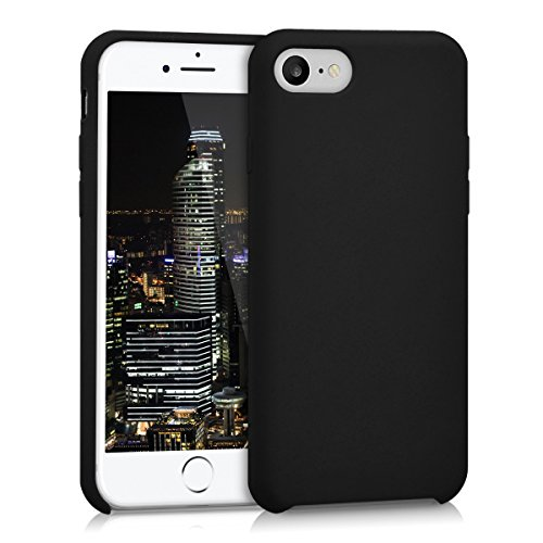 kwmobile Funda Compatible con Apple iPhone 7/8 / SE (2020) - Funda Carcasa de TPU para móvil - Cover Trasero en Negro