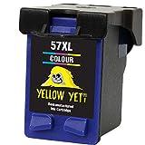 Yellow Yeti Remanufacturado 57 Cartucho de Tinta Color para HP Deskjet 450 450CBi 5150 5550 9680 Officejet 4212 4215 5610 6110 Photosmart 7260 7350 7450 7660 7762 7960 PSC 1210 1215 1216 1315 2110