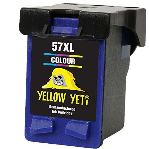 Yellow Yeti Remanufacturado 57 Cartucho de Tinta Color para HP Deskjet 450 450CBi 5150 5550 9680 Officejet 4212 4215 5610 6110 Photosmart 7260 7350 7450 7660 7762 7960 PSC 1210 1215 1216 1315 2110