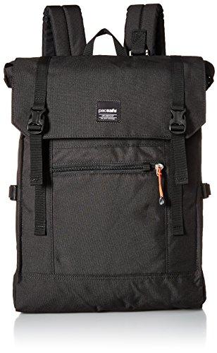 Pacsafe Slingsafe LX450, Anti-Diebstahl Rucksack, Daypack mit Sicherheitstechnologie, 15 Liter, Schwarz/Black