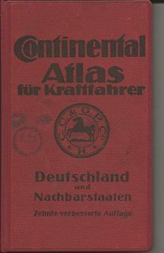 CONTINENTAL ATLAS für Kraftfahrer-Deutschland u. Nachbarstaaten- Elfte verbesserte Auflage 1 Übersichts -46 Haupt -und 19 Sonderkarten