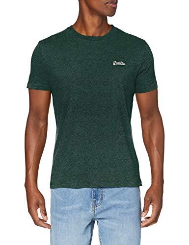 Superdry OL Vintage EMB Tee T-Shirt, Grain Vert de Saule, Large Homme