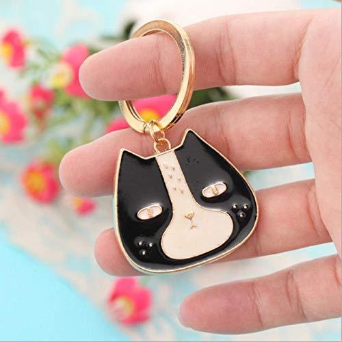 LIANYG Cute Cartoon Dolls Kate Cat Women KeyRing Car Trinket Couple Key Chains Kids Toy Key Ring Charms Pendant