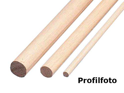 Rundstab Massivholz glatt Buche Ø 20 mm Länge 1000 mm 5 Stück