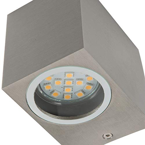 Ranex 5000.465 LED muur buitenlamp met up & down light 2x GU10 [3 Watt vervangt 20 Watt], 2x 190 lumen, 2x 110° stralingshoek, warm wit