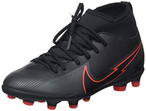 Nike JR Superfly 7 Club FG/MG, Zapatillas de ftbol, Black Black Dk Smoke Grey Chile Red, 36.5 EU