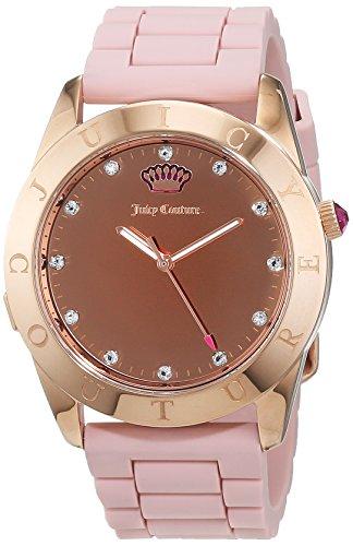 Juicy Couture Reloj Analógico para Mujer de Cuarzo con Correa en Silicona 1901546