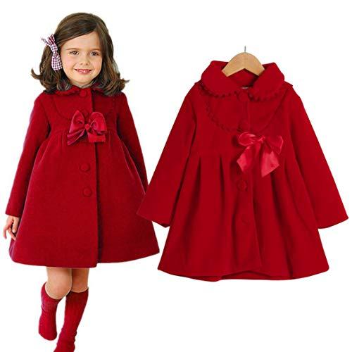 Hawkimin_Babybekleidung Hawkimin Baby Mädchen Winter warme Prinzessin Mode Mantel Einfarbig Starke Warme Kleidung für Kinder Kleinkind Baby Mädchen