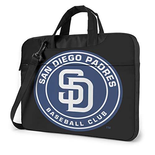 MLB San Diego Padres Laptop Sleeve Laptop Bag Tablet Briefcase Ultraportable Protective Handbag Oxford Cloth 15.6 inch