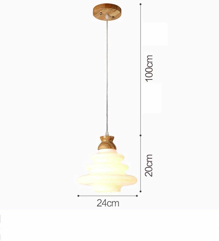 Xiao Fan   Kronleuchter-Massivholz Kreative Einfache Kronleuchter Restaurant Bar Cafe Wohnzimmer Balkon Kronleuchter -Innenbeleuchtung Kronleuchter (Gre  24CM)