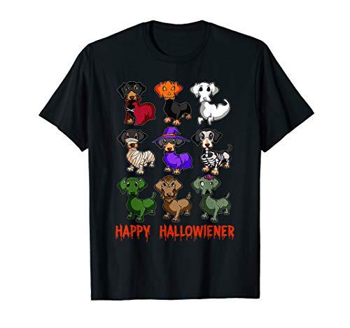 Happy Hallowiener Dachshund Halloween T-Shirt
