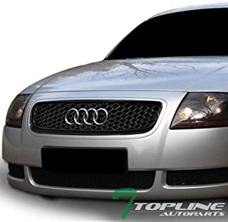 Topline Autopart Black RS-Honeycomb Mesh Front Hood Bumper Grill Grille ABS For 00-06 Audi TT 8N - coolthings.us