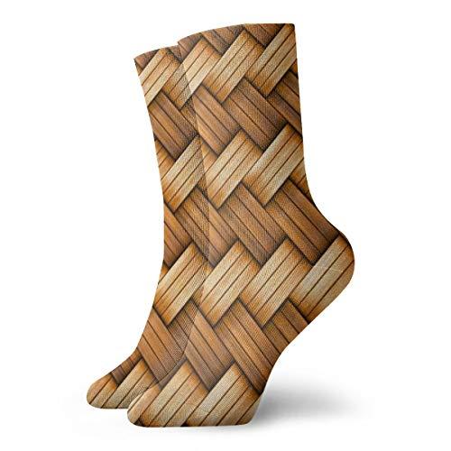 Calcetines unisex BJAMAJ con textura de mimbre, de poliéster, calcetines de algodón para adultos