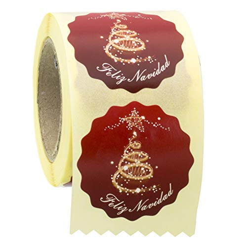 ETINOVA NV004 - Etiquetas adhesivas, pegatinas, stickers, Navidad, regalos -