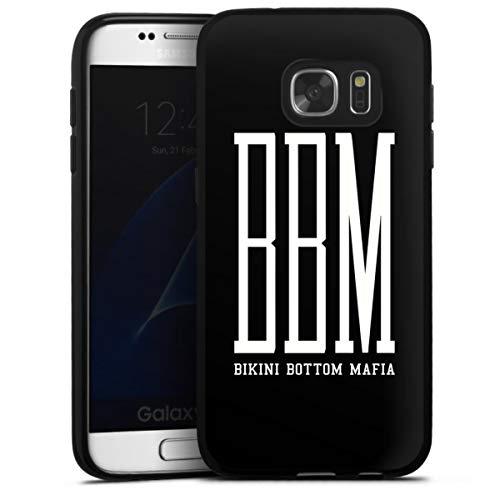 DeinDesign Silikon Hülle kompatibel mit Samsung Galaxy S7 Case schwarz Handyhülle Spongebozz Bikini Bottom Mafia YouTube