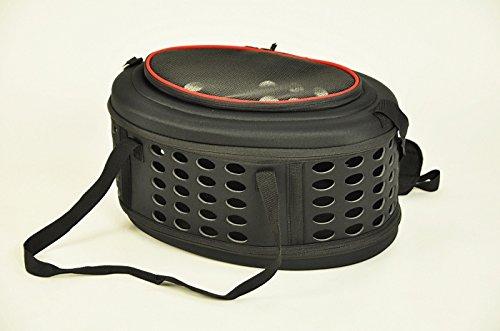 nanook faltbare Transporttasche / Transportbox für Katze, Kaninchen und kleine Hunde, 43 cm , schwarz - 2