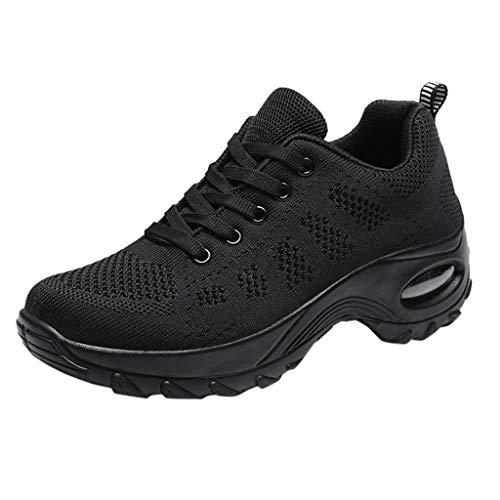 Vovotrade Low-Top Sneakers voor dames, lichtgewicht, ademende hardloopschoenen, tieners, meisjes, plateau, sportschoenen, gymschoenen, hardlopen, fitness, outdoors