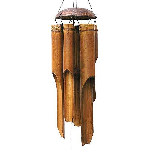 Clevoers Windspiel Bambus,beruhigender Klang Feng,handgemacht Dekorativ Für Garten Und Balkon