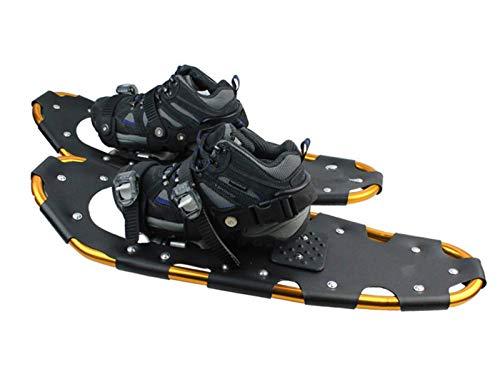 ZJWD Zapatos De Nieve para Terreno De Aleación De Aluminio, Puños De Nieve De 22 Pulgadas, Raquetas De Nieve con Bolsa De Transporte para Mujeres, Hombres, Jóvenes, Niños