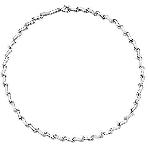 Vinani Kollier klassisch mattiert glänzend 925 Sterling Silber Collier 2KAZ