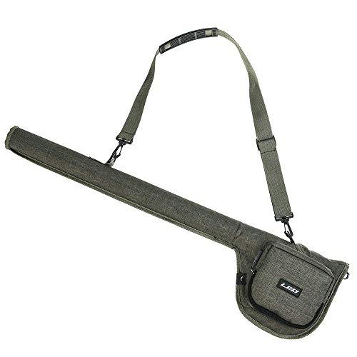 Lixada Fishing Rod Bag Canvas Fly Fishing Rod Case Water-Resistant Fishing Rod Tube Case Fly Fishing Rod Gear Bag