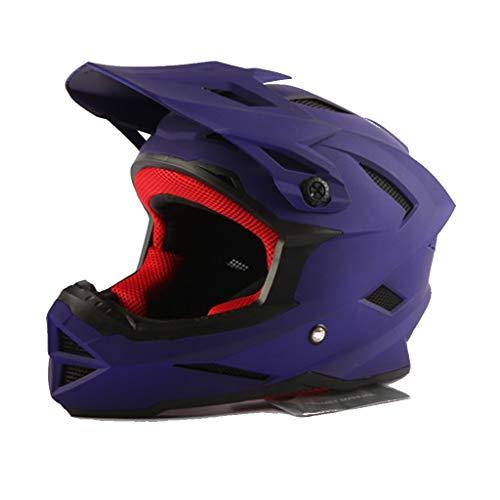 Lsrryd THH Motocross Casco ECE - 22.05 Choque Cara Completa Fuera del Camino Cuesta Abajo Suciedad Bicicleta (Color : Azul, Tamaño : S 53-54cm)