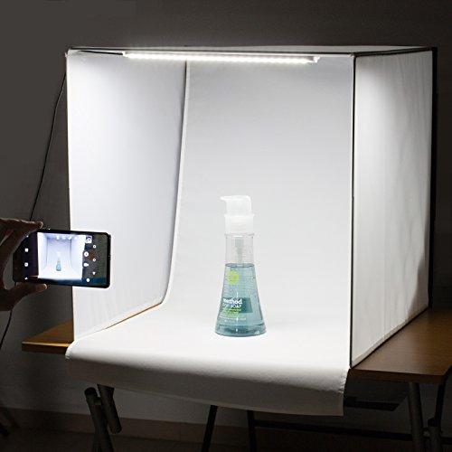 LS_deco ® 撮影ボックス (29215) (60cm, LEDライト付撮影ボックス[DECOボックス] 1灯タイプ)