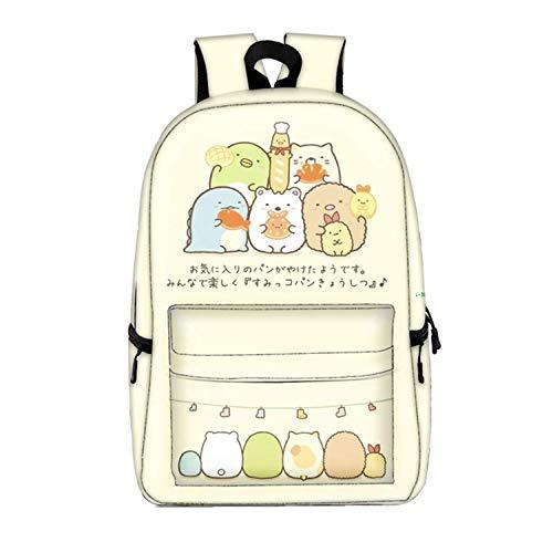 Zaino Sumikko Gurashi Cartoon Full Stampato Bookbag Grande Capacità Studente Borsa