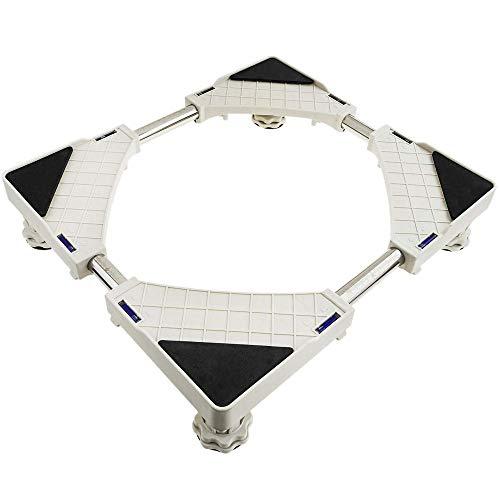 PrimeMatik - Anti-vibratie hefstatief voor wasmachine, droger, koelkast en airconditioning 150 kg 51-68 cm 45-63 cm