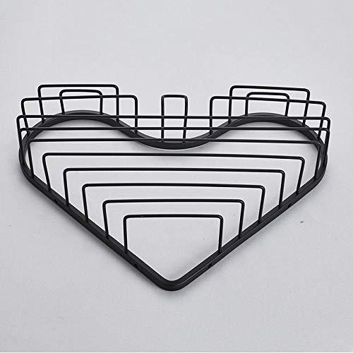 304 RVS Statief Badkamer Plank Enkele Laag Hartvormige Hoek Mand 6031 black