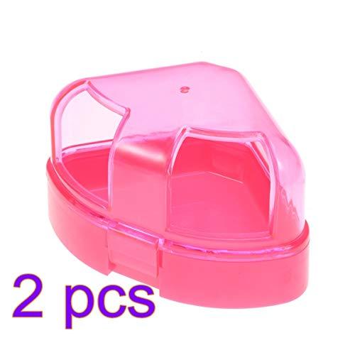 POPETPOP- 2 stücke doppeltür Hamster Bad wc Hamster Sand Bad Sand Bad waschbecken für Hamster verwenden (rosa)