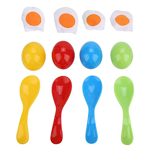 Dilwe Ei und Löffel Rennen Spiel, Balance Löffel Ei Spielzeug Kinder Laufen Outdoor Pädagogisches Spiel Spielzeug