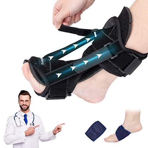 2021 New Upgraded Plantar Fasciitis Splint Night, Plantar Fasciitis Support, Ankle Brace Foot Brace, Foot Drop, Achilles tendoniti Black