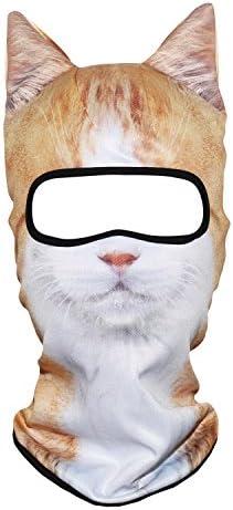 YOSUNPING 3D Animal Ears Face Mask Windproof Balaclava Sun Dust Protection for Ski Snowmobile product image