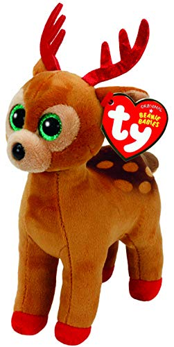 TY Beanie Babies 6' Christmas Limited Edition Tinsel The Reindeer, Perfect Plush!