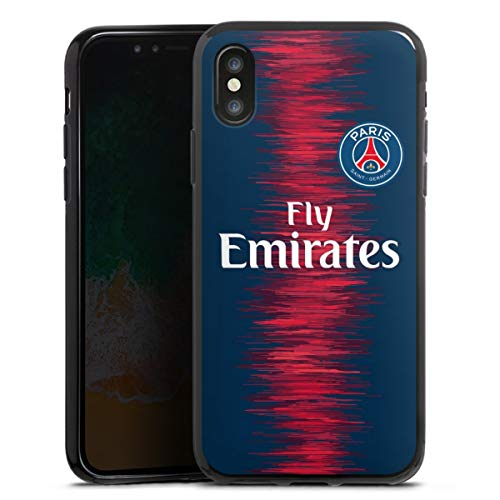 DeinDesign Silikon Hülle kompatibel mit Apple iPhone X Case schwarz Handyhülle Trikot Paris Saint-Germain PSG
