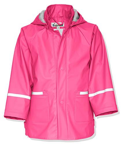 Playshoes Kinder Regenjacke-Mantel mit abnehmbarer Kapuze, Rosa (18 pink), Gr. 128