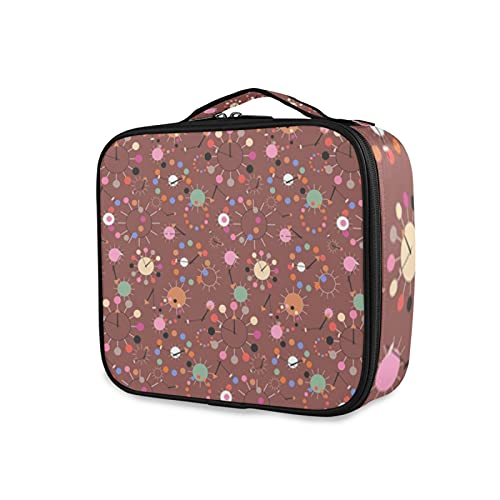 Bolso cosmético Vinpauld de los relojes de chocolate rosa bolsa de viaje para la muchacha grande bolsa de cosméticos bolsa de cepillo reutilizable