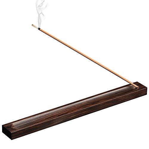 Tomorotec 100% Natural Wood Incense Stick Holder, Attom Tech Home Incense Burner Stick Holder, Incense Ash Catcher