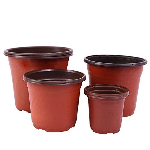 Finetoknow Maceta de plástico para plantas suculentas, 50/100 unidades, de doble color, soporte para plantas de cultivo, bloque de nutrición, jardinería, etc.