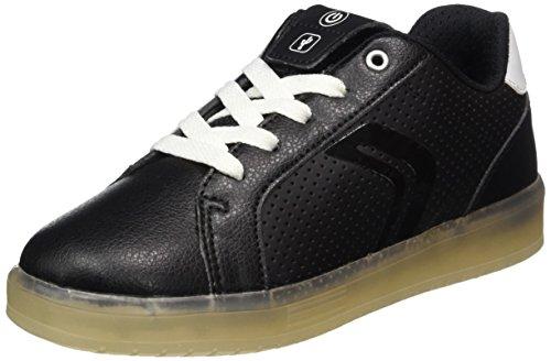 Geox Jungen J KOMMODOR Boy B Sneaker, Schwarz (Black/White), 36 EU