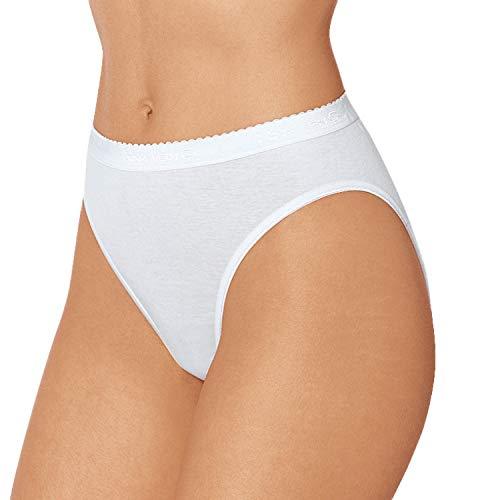 Nina von C. 5er Pack Damen Jazzpants I Slipboutique I Damenslips in Weiß aus 100% supergekämmter Baumwolle I Hochwertige Jazz Pants I Gr. 44