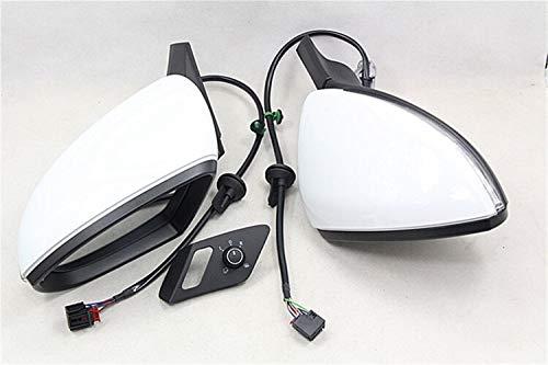 N\A Cubierta del Espejo retrovisor Lateral del Coche For Golf 7 MK7 7.5 Auto Doble Interruptor Espejo Plegable eléctrica del Espejo del Lado de la Cubierta con los vidrios Espejos de Puntos Ciegos