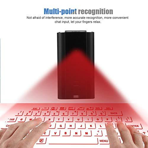 Mini virtuele holografische muis met toetsenbord- en muisfuncties + Bluetooth-luidspreker + speakerphone + spraakoverdracht, draadloze projectie Bluetooth virtueel toetsenbord