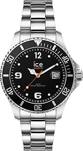 ICE-WATCH - ICE steel Black silver, Reloj negro para Mujer con Correa de metal - 017323 (Small)